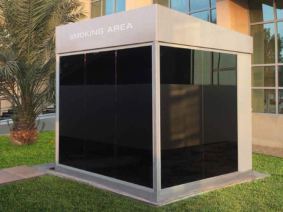 Outdoor Smoking Cabins in Abu Dhabi