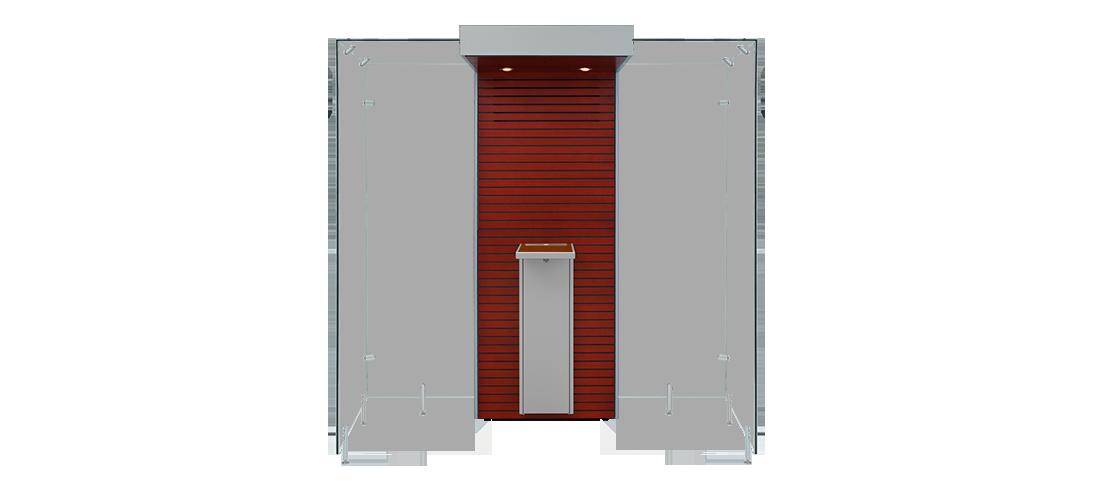Mahogany and Grey - Open Modular Smoke Cabin