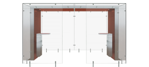 Mahogany and Metal Modular Smoking Area