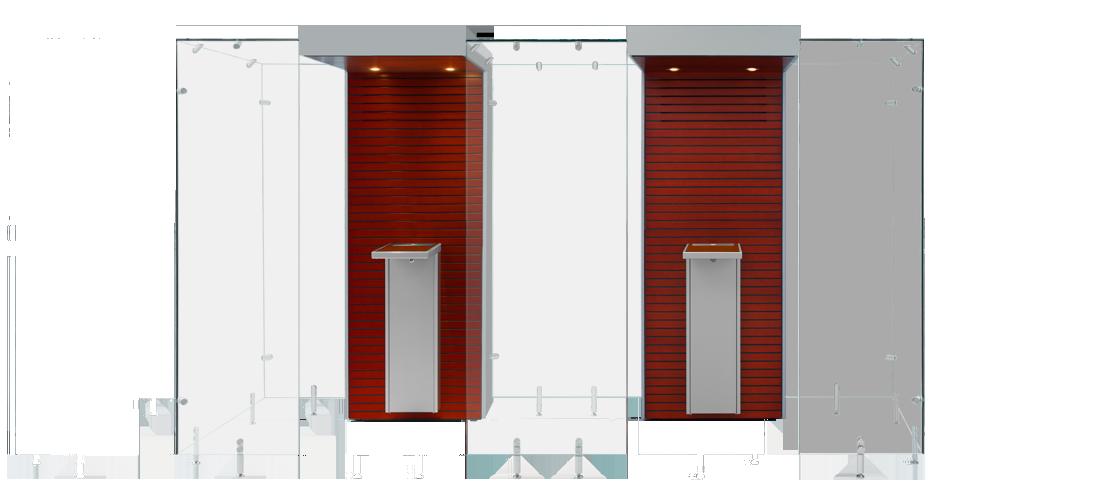 Mahogany and Grey Modular Smoke Cabin Unit